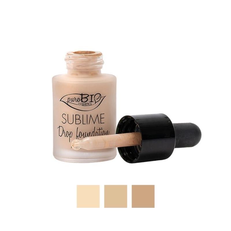 PuroBIO Sublime Drop Foundation Meikkivoide - Kevyt ja Peittävä Nestemäinen Meikkivoide