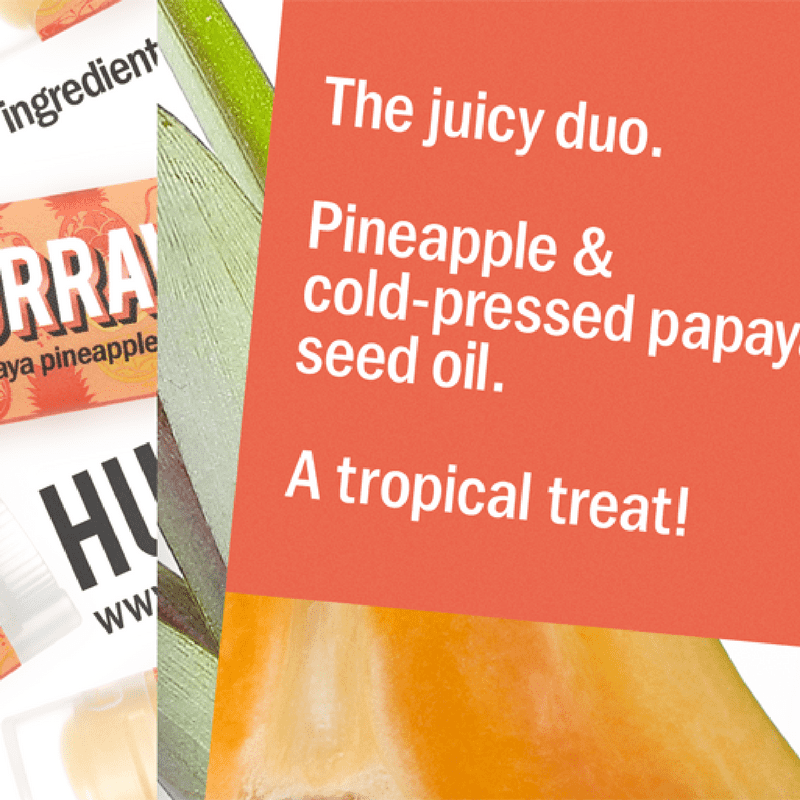 HURRAW! Papaija-Ananas Huulivoide