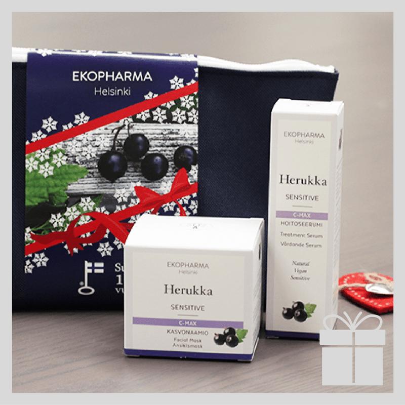 Rauhoittava ja vahvistava EKOPHARMA Herukka joulupaketti