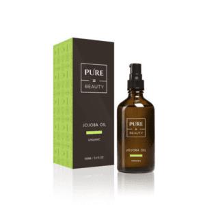 Pure=Beauty Jojobaöljy - 100% Luomuöljy Ihon- ja Hiustenhoitoon