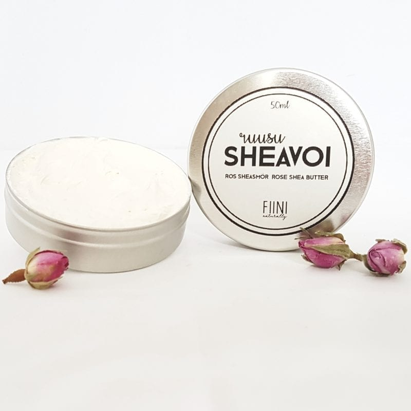 FIINI Naturally Ruusu-Sheavoi - Täyteläinen Hoitovoide Kasvoille