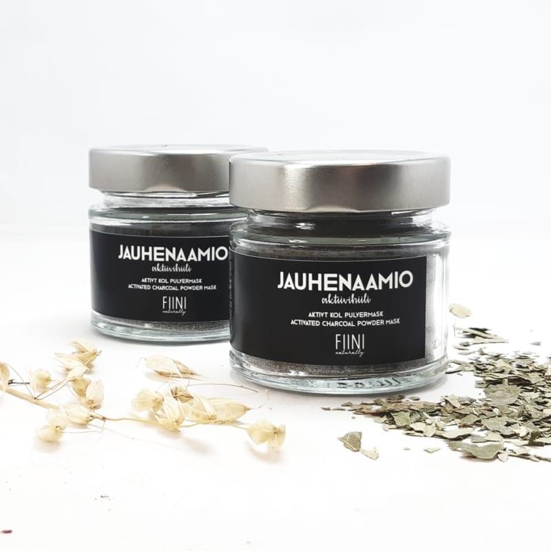 FIINI Naturally Aktiivihiili Jauhenaamio - Syväpuhdistava Kasvonaamio Epäpuhtaalle Iholle