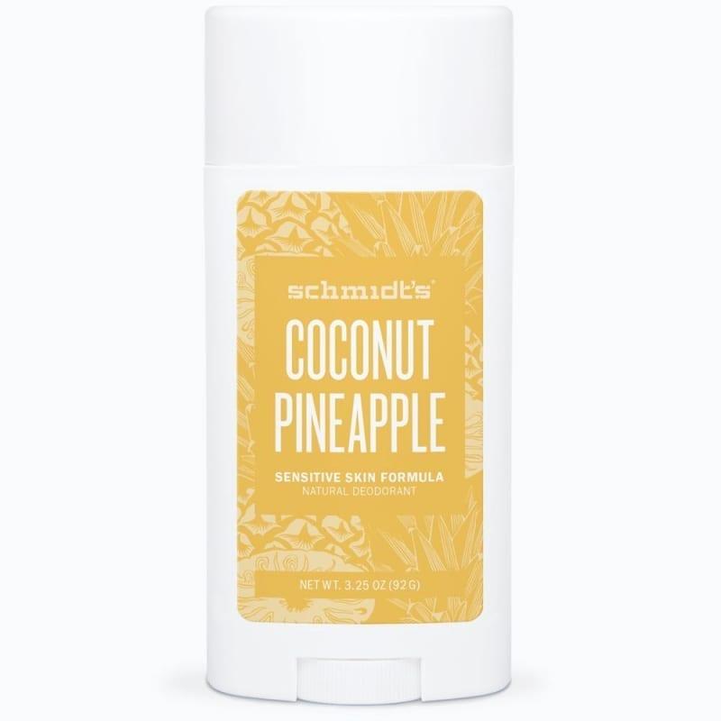 Schmidt's Sensitive Deodorantti Coconut & Pineapple Stick 92g, Soodaton
