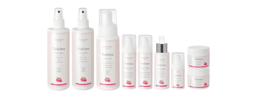 Vadelma-hoitolinja on ihon monipuolinen ja syvävaikutteiden tehokosteuttaja ja heleyttäjä.