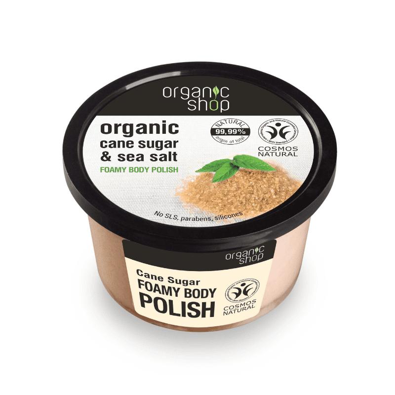 Organic Shop Cane Sugar Vaahtoava Vartalonkuorinta
