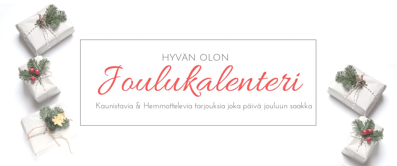 Oloshopin Joulukalenteri - Luonnonkosmetiikka Joulupakkaukset & Tarjoukset