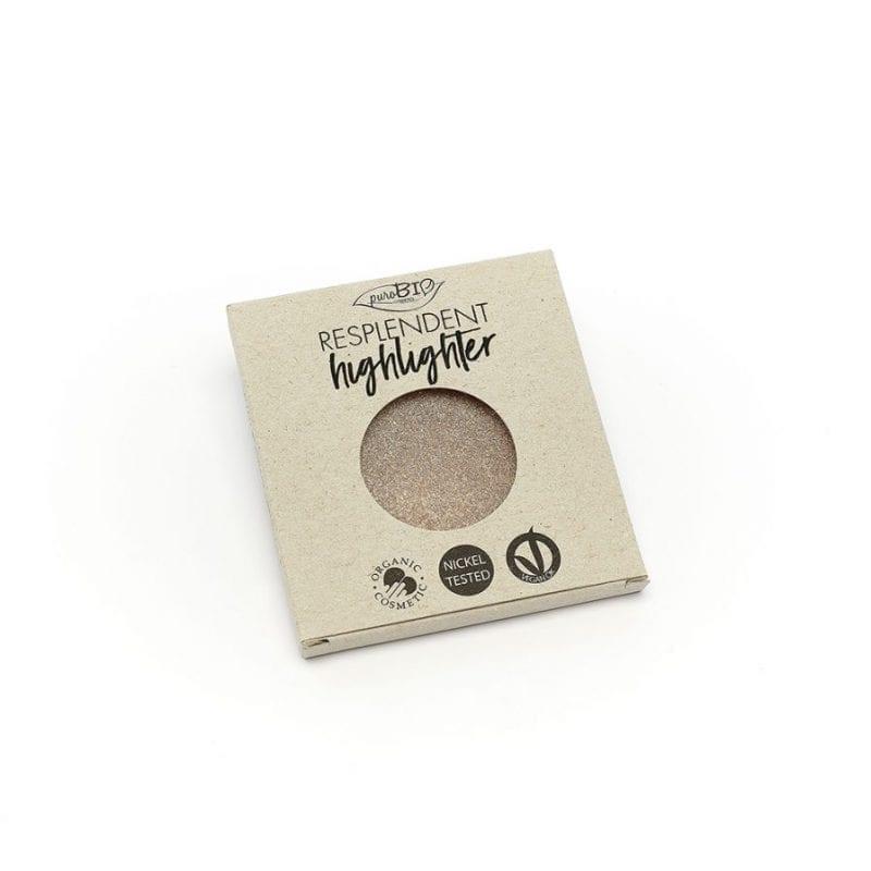 PuroBIO Resplendent Highlighter Shimmer Korostusväri 01 Refill-Täyttöpakkaus