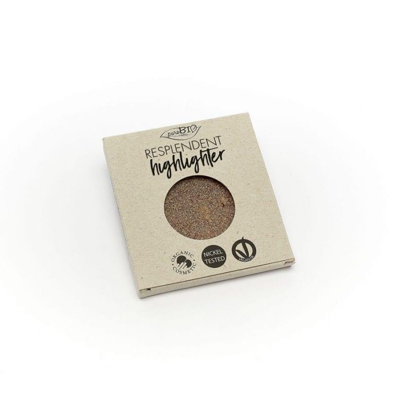 PuroBIO Resplendent Highlighter Shimmer Korostusväri 03 Refill-Täyttöpakkaus